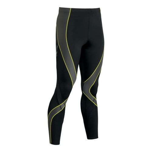 Mens CW-X Pro Fitted Tights - Black/Grey/Yellow L