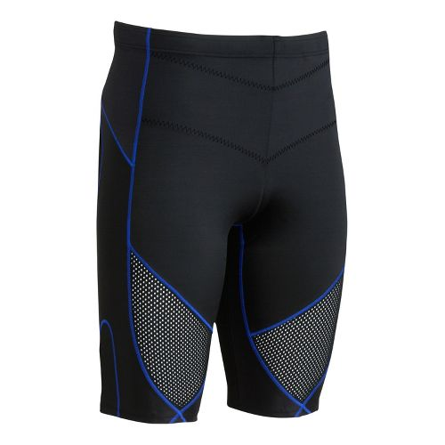 Mens CW-X Stabilyx Ventilator Fitted Shorts - Black/Blue L