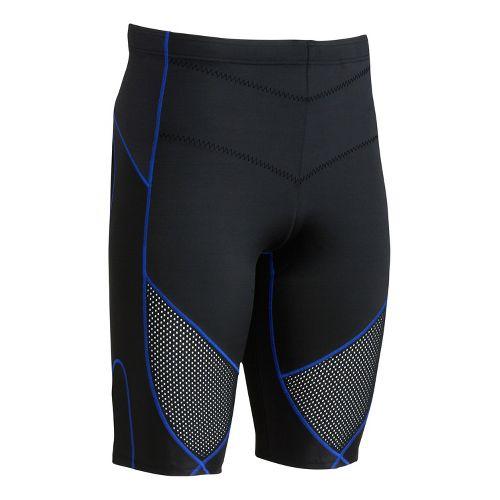 Mens CW-X Stabilyx Ventilator Fitted Shorts - Black/Blue M