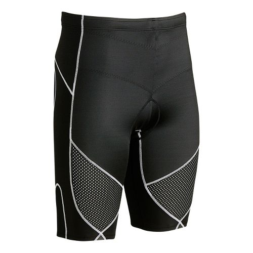 Mens CW-X Ventilator Stabilyx Tri Fitted Shorts - Black/Grey L