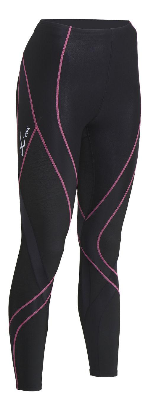 Womens CW-X Insulator Endurance Pro Tights & Leggings Tights - Black/Soft Pink L