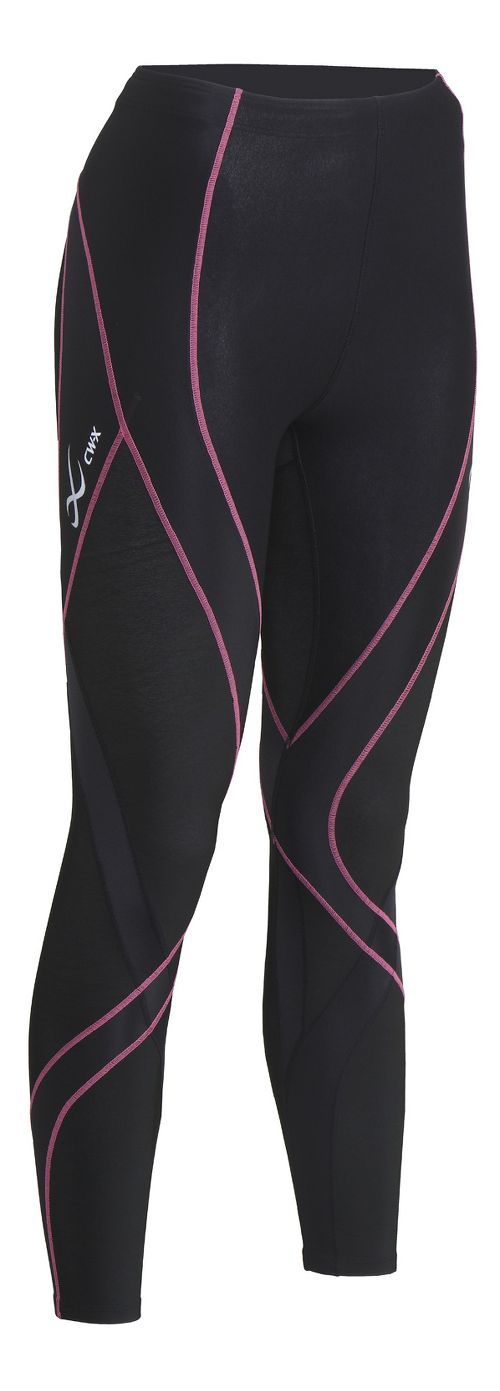 Womens CW-X Insulator Endurance Pro Tights & Leggings Tights - Black/Soft Pink XS