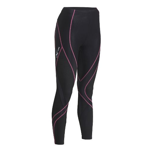 Womens CW-X Insulator Endurance Pro Tights & Leggings Tights - Black/Soft Pink L