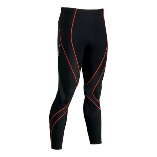 Womens CW-X Insulator Endurance Pro Fitted Tights - Black/Orange XS