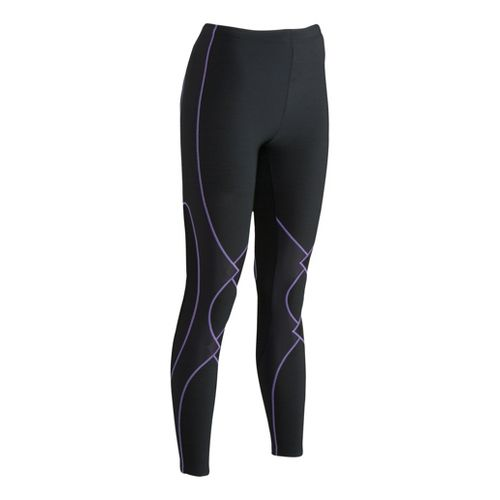 Womens CW-X Insulator Expert Fitted Tights - Black/Lavender L