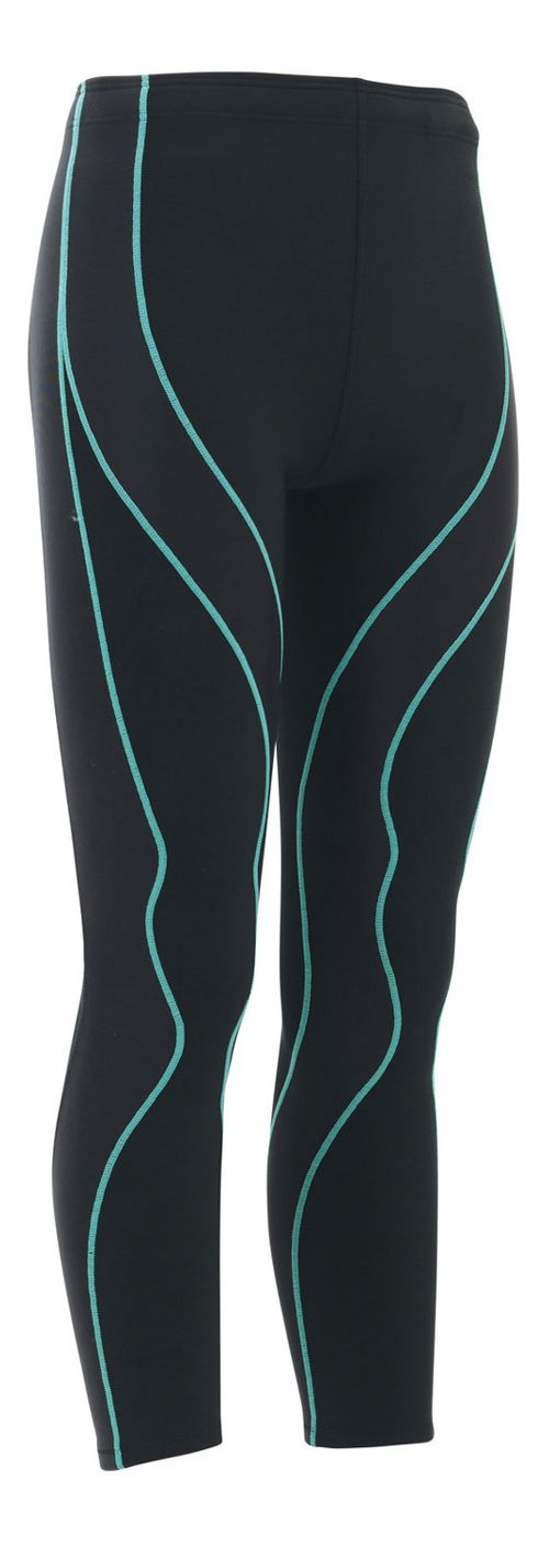 Womens CW-X Insulator PerformX Tights & Leggings - Black/Turquoise XS
