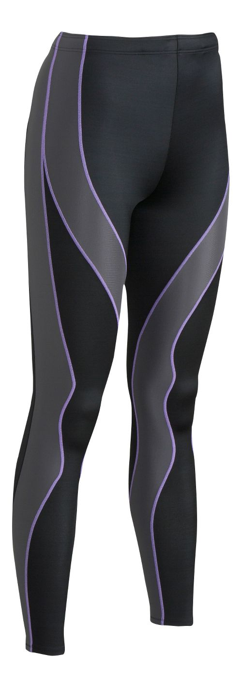Womens CW-X Performx Fitted Tights - Black/Grey L