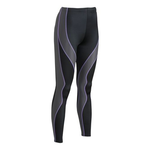 Womens CW-X Performx Fitted Tights - Black/Grey M