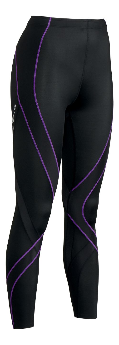 Womens CW-X Pro Fitted Tights - Black/Purple XS