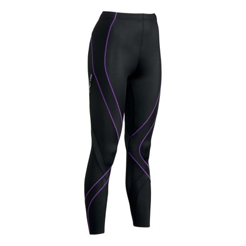 Womens CW-X Pro Fitted Tights - Black/Purple L