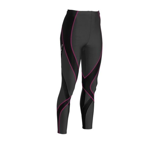 Womens CW-X Pro Fitted Tights - Black/Raspberry L
