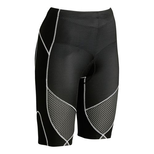 Womens CW-X Ventilator Stabilyx Tri Fitted Shorts - Black/Grey L