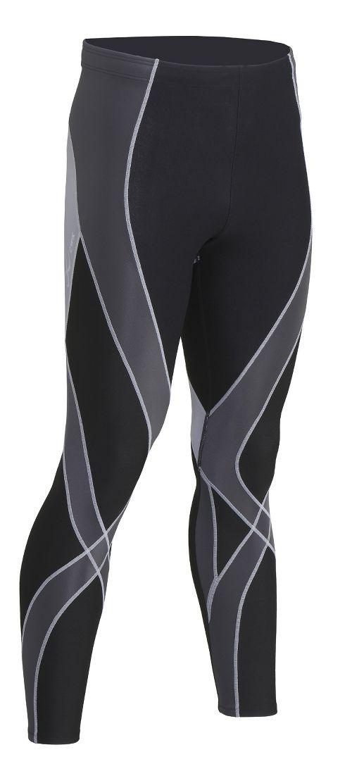 Mens CW-X Insulator Endurance Pro Tights & Leggings Tights - Black/Grey/Silver L