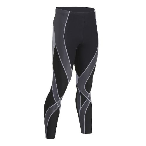 Mens CW-X Insulator Endurance Pro Tights & Leggings Tights - Black/Grey/Silver L
