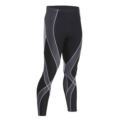Mens CW-X Insulator Endurance Pro Tights & Leggings Tights - Black/Grey/Silver XL
