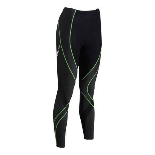 Mens CW-X Insulator Endurance Pro Fitted Tights - Black/Lime M