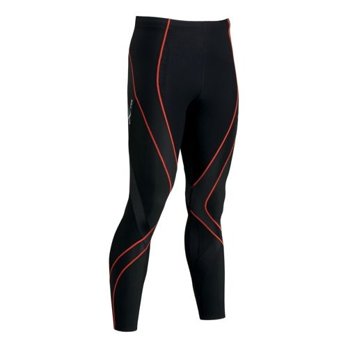 Mens CW-X Insulator Endurance Pro Fitted Tights - Black/Orange L