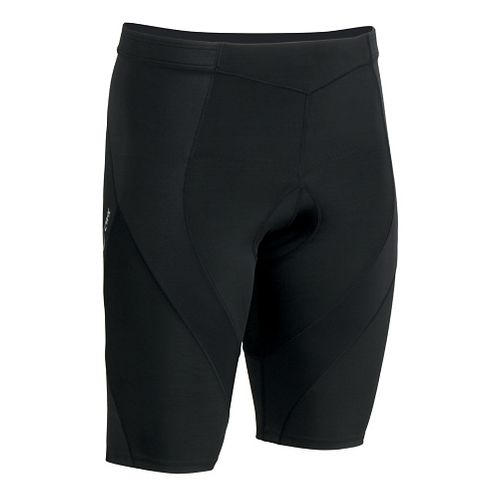 Mens CW-X Pro Tri Fitted Shorts - Black L