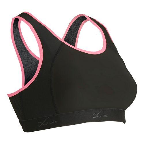 Womens CW-X Xtra Support III Sports Bras - Black/Fuchsia 38B/C