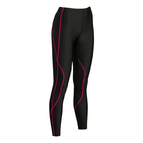 Womens CW-X TraXter Fitted Tights - Black/Raspberry S