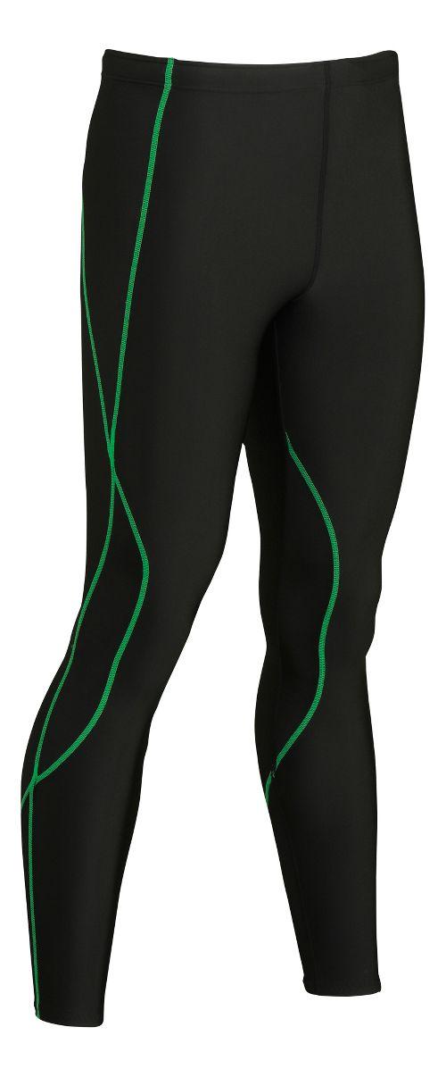Mens CW-X TraXter Tights & Leggings Tights - Black/Lime XL