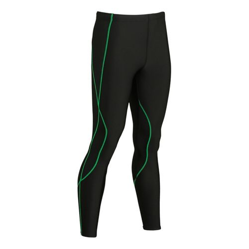 Mens CW-X TraXter Fitted Tights - Black/Lime S