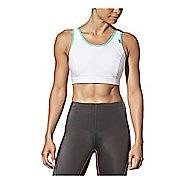 Womens CW-X Stabilyx Running Sports Bras - White/Turquoise 36DD