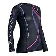 Womens CW-X LS Revolution Long Sleeve No Zip Technical Tops