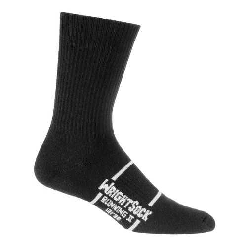 WrightSock Running II Crew 3 pack Socks - Black L