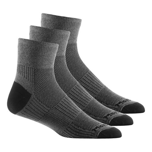 WrightSock Double Layer CoolMesh II Quarter 3 pack Socks - Grey L