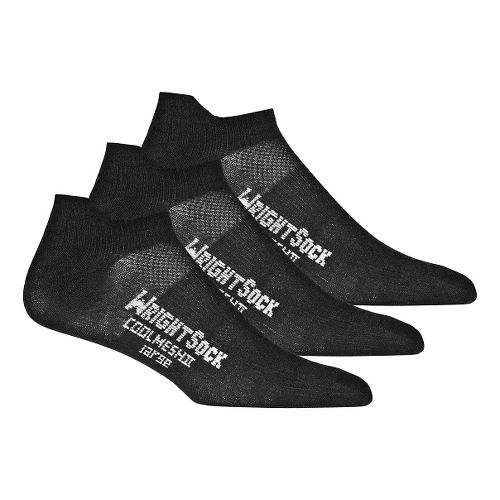 Wrightsock Cool Mesh II No Show Tab 3 pack Socks - Black L