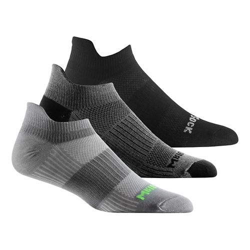 Wrightsock Cool Mesh II No Show Tab 3 pack Socks - Grey M