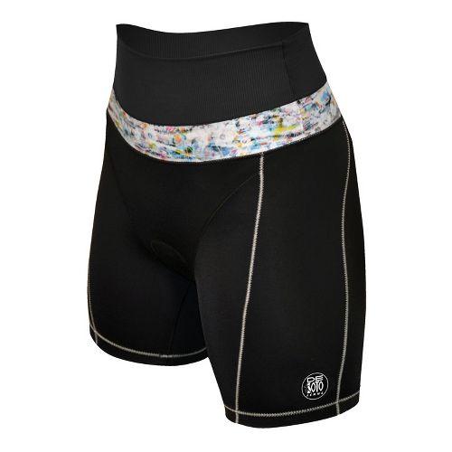 Womens De Soto Forza Riviera Tri Fitted Shorts - Black/Print S