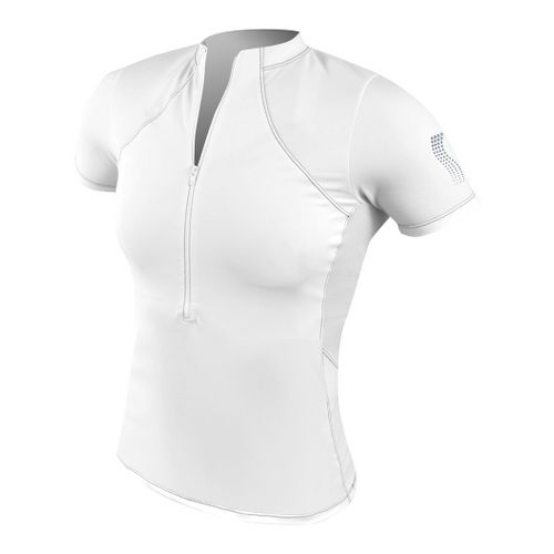Womens De Soto Forza Tri Jersey Short Sleeve Technical Tops - White L