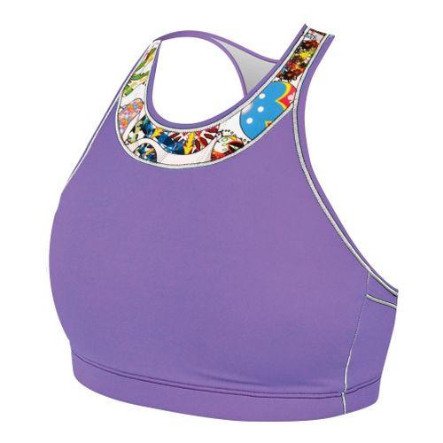 Womens De Soto Carrera Top Sports Bras - Purple Reef S