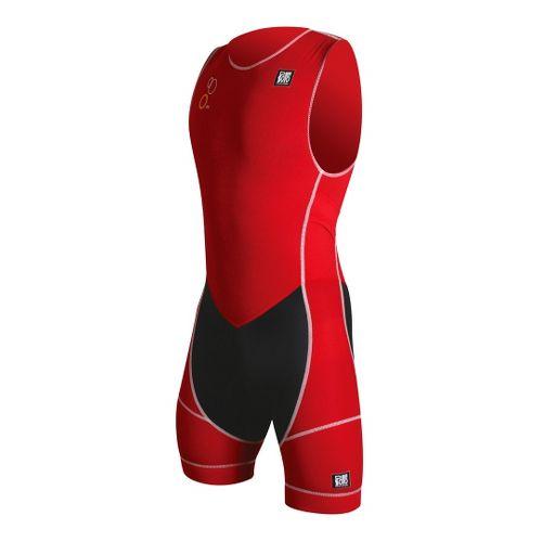 Mens De Soto Forza ITU Trisuit Triathlon UniSuits - Red L