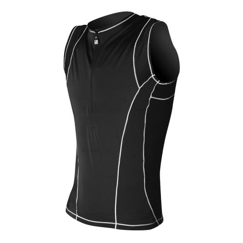 Mens De Soto Forza Tri Jersey Sleeveless Technical Tops - Black XS