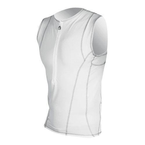 Mens De Soto Forza Tri Jersey Sleeveless Technical Tops - White XL