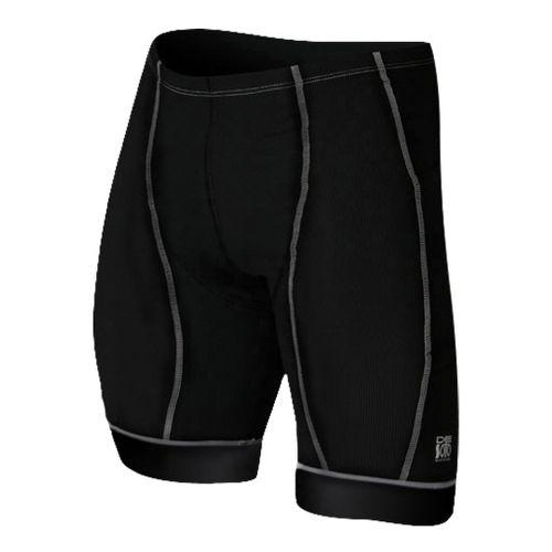 Mens De Soto Forza Tri Fitted Shorts - Black/Graphite L