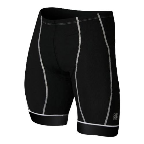 Mens De Soto Forza Tri Fitted Shorts - Black/White M