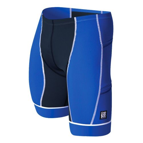 Mens De Soto Forza Tri Fitted Shorts - Royal/White XS