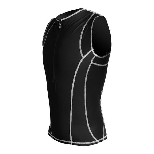 Mens De Soto Riviera Tri Jersey Sleeveless Technical Tops - Black L