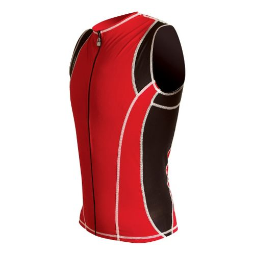 Mens De Soto Riviera Tri Jersey Sleeveless Technical Tops - Red/Black M
