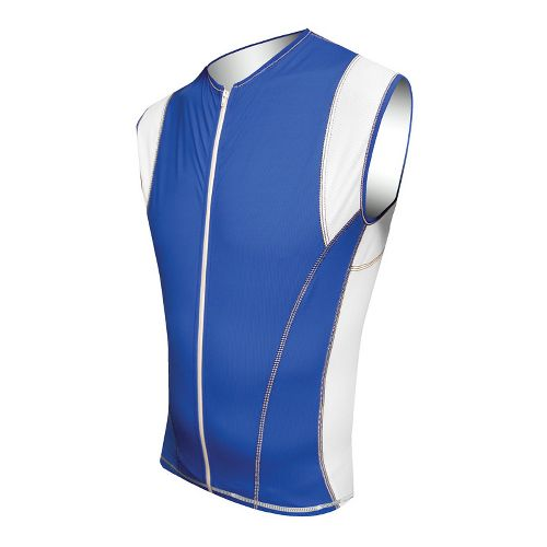 Mens De Soto Riviera Tri Jersey Sleeveless Technical Tops - Royal/White XL