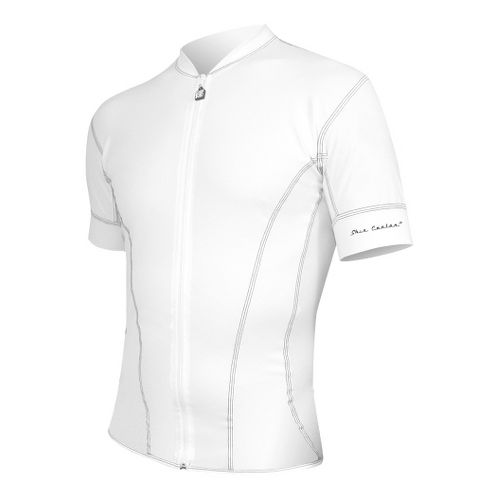 Mens De Soto Riviera Tri Jersey - Short Sleeve Technical Tops - White XL