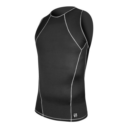 Mens De Soto Carrera Tri Top Singlets Technical Top - Black S