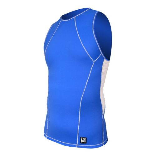 Mens De Soto Carrera Tri Top Singlets Technical Tops - Royal/White XL
