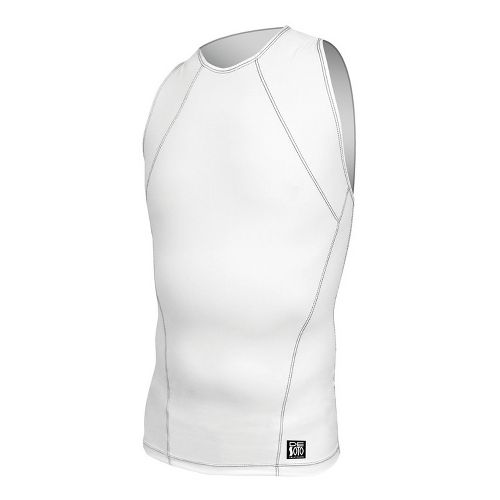 Mens De Soto Carrera Tri Top Singlets Technical Tops - White XL