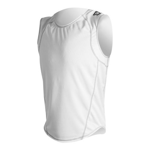 Mens De Soto Carrera Loose Jersey Sleeveless Technical Tops - White L