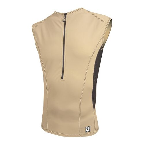 Mens De Soto Carrera Tri Jersey Sleeveless Technical Tops - Khaki L